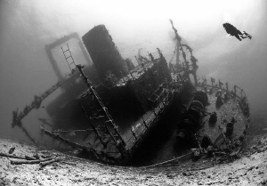Wreck of the Giannis D, Red Sea, Egypt. by Jim Garland